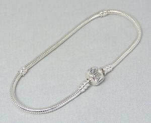 Authentic Pandora 8.3 Inch Bracelet Charm/Bead Silver ALE 925 590702HV-21