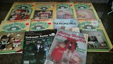 Lot of 10 Plaid Vintage Cabbage Patch Kids Craft Books - Clothes nursery Stencil