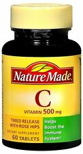 Nature Made Vitamin C 500 mg Tablets 60 Tablets (Pack of 6)