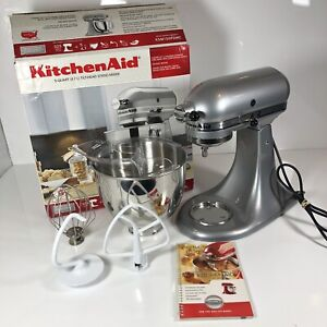 KitchenAid KSM150PSMC Artisan 5-Quart 10-Speed Stand Mixer, Metallic Chrome