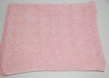 "Girls Pink Baby Blanket Lovey Throw Nursery Bedding 40""x32"" Pastel Boutique NWOT"