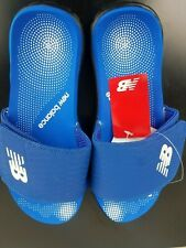 New Balance Men's Mojo Slide Sandals Blue white Size 9 new
