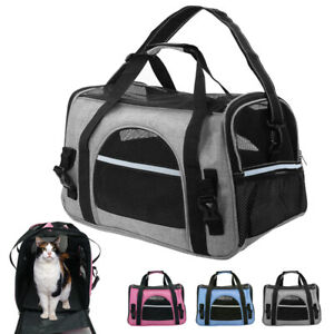 Pet Dog Carrier Bag Soft Sided Travel Crate Cat Comfort Tote Airline Approved