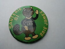"VINTAGE 3"" PINBACK BUTTON #44- 038 -  SQUIRREL - SAUTERIE BAIE JAMES"