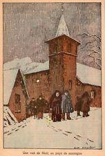 UNE NUIT DE NOEL EN PAYS DE MONTAGNE IMAGE 1936 PRINT
