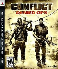 BRAND NEW SEALED PS3 SHOOTER -- Conflict: Denied Ops (Sony PlayStation 3, 2008)