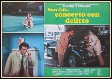 fotobusta  TENENTE COLOMBO CONCERTO CON DELITTO    PETER FALK