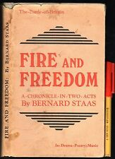 Rare! 1944 FIRE & FREEDOM post BATTLE of BRITAIN WW2 Play in 2 Acts + MUSIC! GC