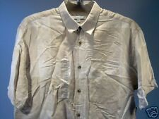 Geoffrey Beene Short Sleeve SS Shirt Beige Tan Size  L Men New NWT