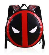 Marvel Comics Deadpool Leather Sports Messenger School Backpack Bag Gift #New