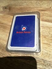 British Paints-Australian-'Reed' Paper Plastic Coated Playing Cards-1970's-Adv.