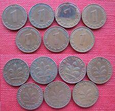 Alemania/Germany 1 Pfennig 1948J, 1949D, 1949J, 1950D, 1950F, 1950G, 1950J