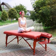 "Master Massage 31"" Santana Portable Massage Table Mountain Red Minor Defective"