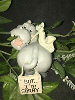 """SIMSON GIFTWARE BIG BUT-HIPPO 3""""H. (BUT...I'M SORRY)."""