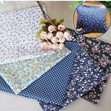 16 x Fabric Bundles Fat Qighths Polycotton Material Florals Gingham Spots Craft