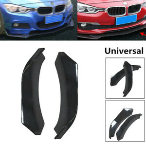 2X Left Right Winglet Front Bumper Lip Diffuser Side Skirts Splitters Style ABS