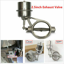 Car 2.5inch Exhaust Control Valve Vacuum Actuator Open Style Stainless Steel &