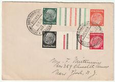 1939 Germany Seapost Bremen-New York gutter bars x4 Deutsche Amerikanische cover