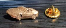 Mercedes Benz Pin SL W129 Cabrio golden relief - Maße 25x12mm
