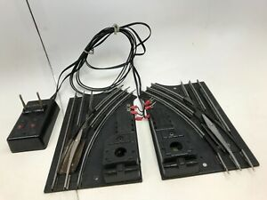 Lionel 1122 Vintage O27 Gauge Postwar Left & Right Switch Set W/Controller