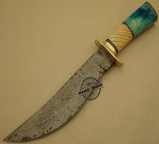 Hermosos personalizado hecho a mano cuchillo machete caza De Acero Damasco Mango Hueso De Camello