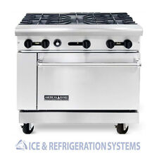 "AMERICAN RANGE 36"" 5 BURNER COMMERCIAL NATURAL GAS OR PROPANE RANGE W/ OVEN AR-5"