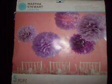 Martha Stewart TISSUE PAPER  POM POM KIT 5  Pom Poms New in Package Purples