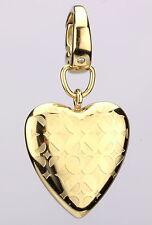Fossil Damen Charm Anhänger Herz in Gold mit Zirkonia JF00084710 NEU *UVP €19