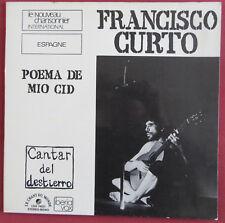 FRANCISCO CURTO  LP ORIG  FR  POEMA DE MIO CID  CHANT DU MONDE