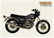 YAMAHA Poster TX500 TX500A 1974 Suitable to Frame XS500