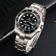 Men's Stainless Steel Date Sports Submariner Quartz Analog Wrist Watch