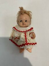Vintage 4 inch Baby Peewee Doll by Uneeda Doll, 1966 W/ Outfit