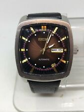 Seiko Mens Snkp25 Stainless Automatic Black Leather Watch #5
