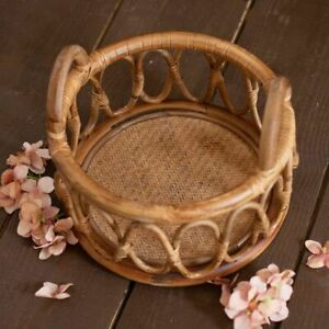 Newborn Photography Basket Round Baby Photo Shoot Chair Poser Props Accessories