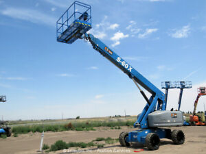 2013 Genie S60X 60' 4WD Diesel Telescopic Boom Lift Man Aerial Platform bidadoo