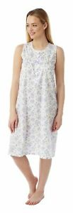 Ladies Floral Lightweight Built Up Shoulder Nightdress Sizes 10 to 30