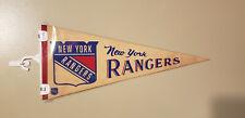 NEW YORK RANGERS VINTAGE NHL FELT PENNANT WITH HOLDER 12212019