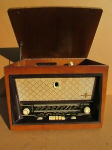 Radio Tourne Disque Ducretet-Thomson LP.491 Pour Pièces, à rénover, Décoration