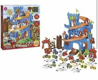 Childrens Toy Majestic Knights Seige Castle 100 Piece Playset New Gift Idea