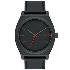 Nixon A0452298 Time Teller All Black Stamped Mens Analog Watch