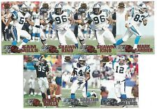 1997 Pacific Silver & Copper Carolina Panthers 7 card lot