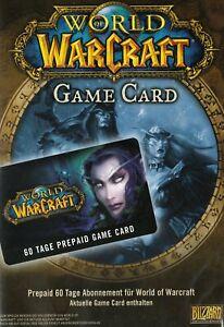 World of Warcraft - GameCard (60 Tage Prepaid) EU Spielzeit WoW Digital Code