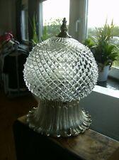 Deckenlampe Plafoniere Art Deco/Bauhaus - SILBER - Kerb - Schliff  Glas/Metall