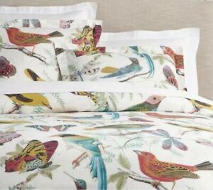 Pottery Barn Cotton FAUNA Butterfly Bird Cotton Standard Size Pillow Sham Case