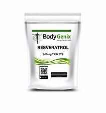 Resveratrolo 500mg Pillole Bodygenix UK Powerful-Memory Antioxidant Anti-età IN