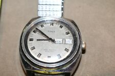 Vintage Men's Timex Water Resistant Calendar Day Automatic Watch Works