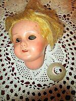 Ancienne tête de poupée en porcelaine-1900-fille