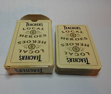 Teachers Whisky local heroes  Playing cards single deck