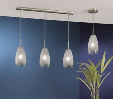 EGLO Crash 3-Light Matte Nickel Hanging Island Light