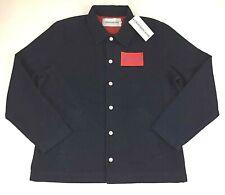 Calvin Klein Jeans Mens XL Blue Denim Snap Button Jacket